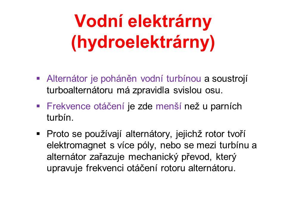 Vodní elektrárny (hydroelektrárny)