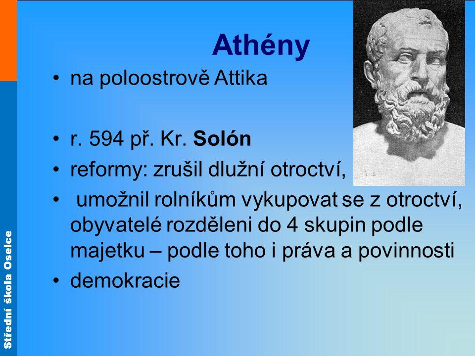 Athény na poloostrově Attika r. 594 př. Kr. Solón