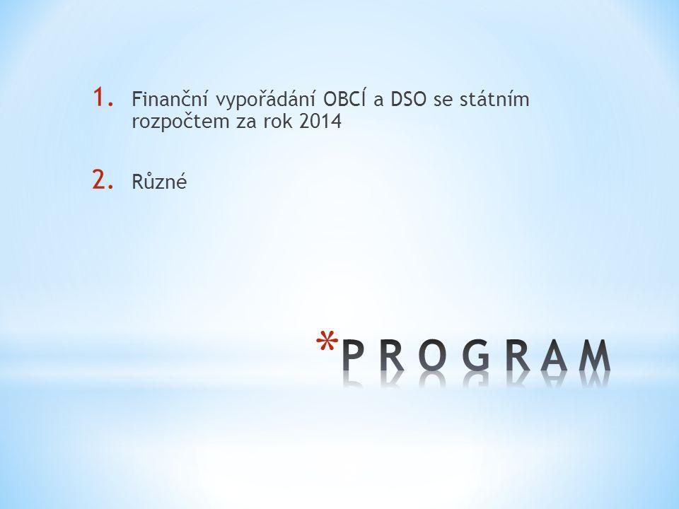 Finanční vypořádání OBCÍ a DSO se státním rozpočtem za rok 2014