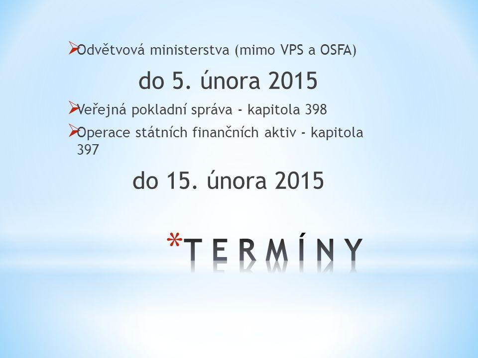 T E R M Í N Y do 5. února 2015 do 15. února 2015