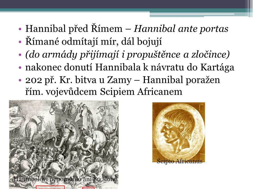 Hannibal před Římem – Hannibal ante portas