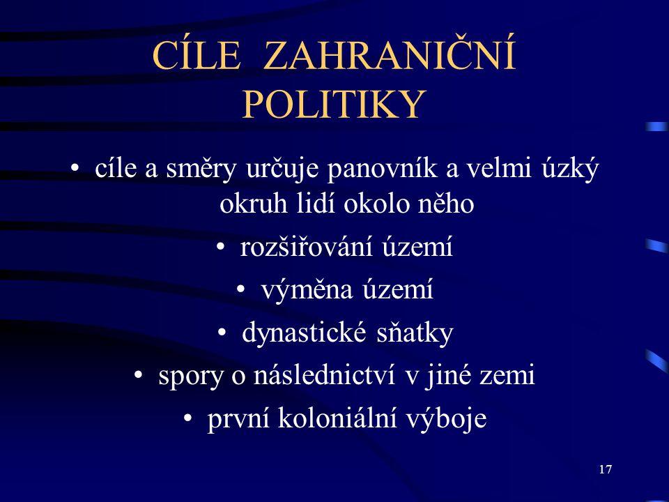 CÍLE ZAHRANIČNÍ POLITIKY