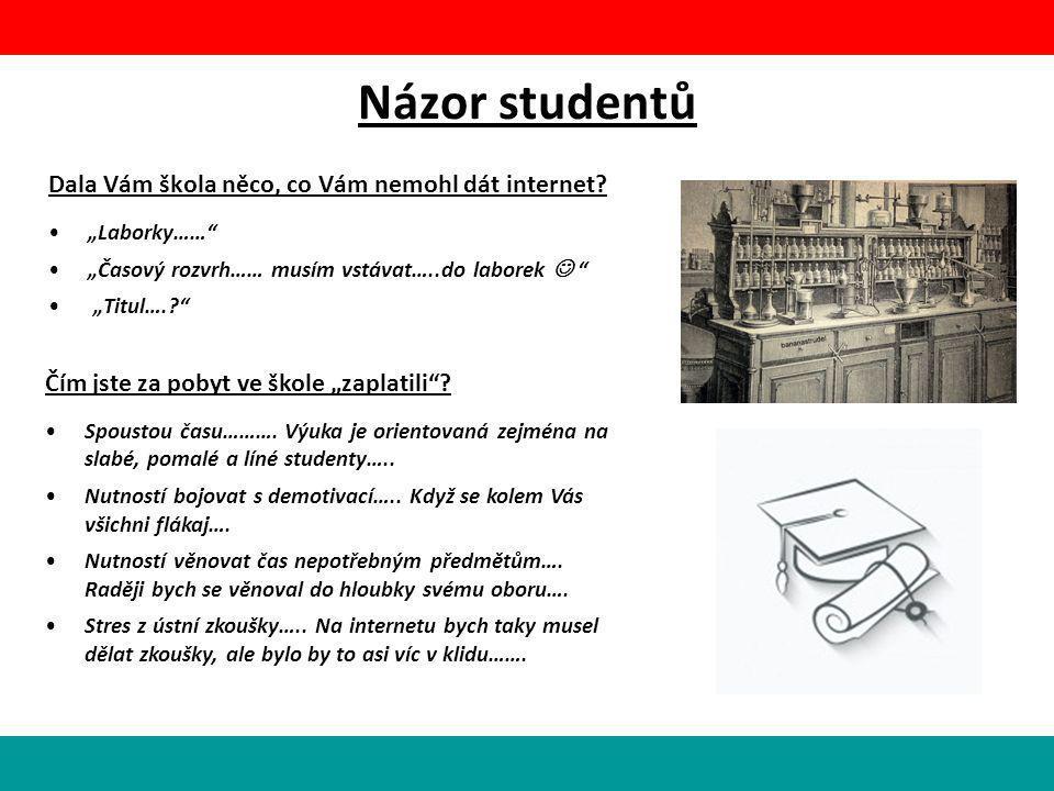 Názor studentů Dala Vám škola něco, co Vám nemohl dát internet