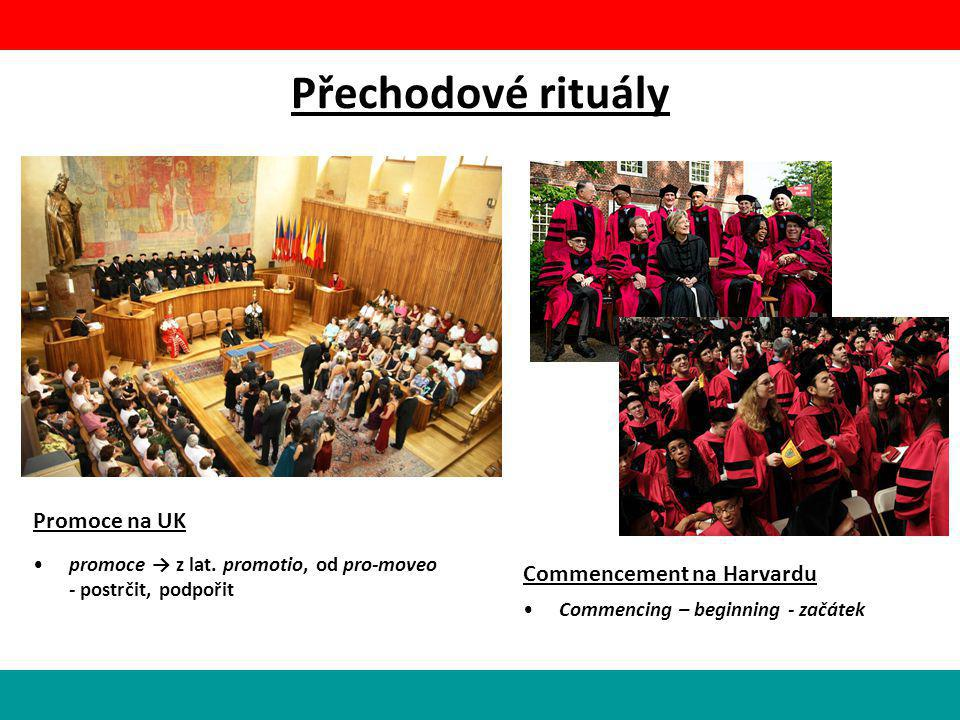 Přechodové rituály Promoce na UK Commencement na Harvardu