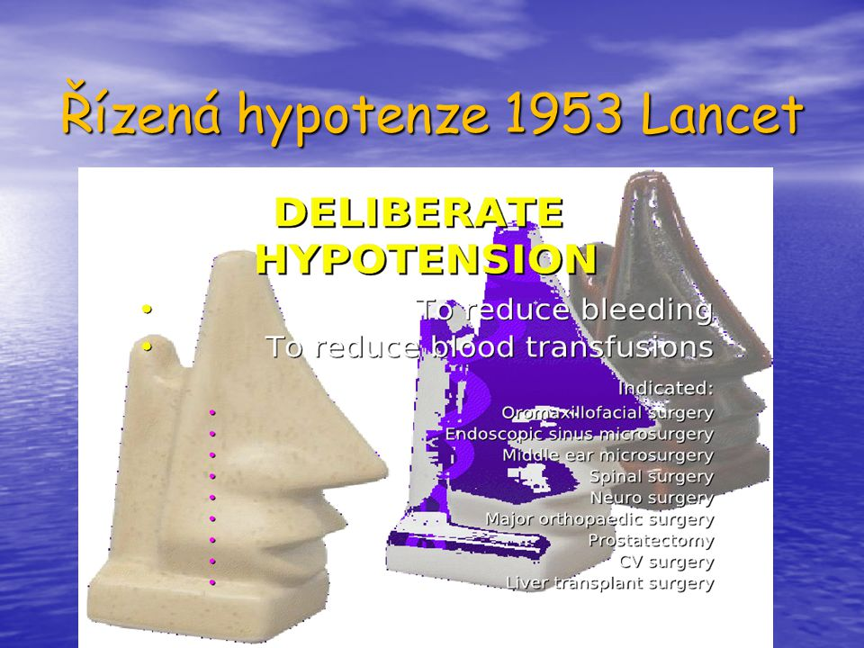 Řízená hypotenze 1953 Lancet