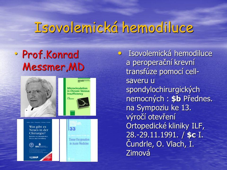 Isovolemická hemodiluce