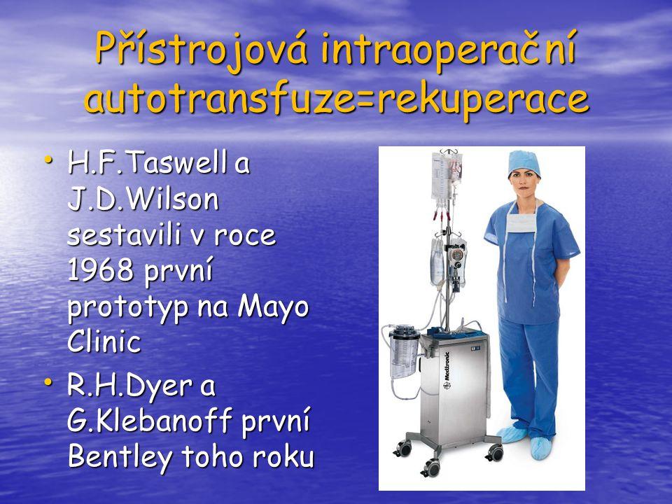 Přístrojová intraoperační autotransfuze=rekuperace