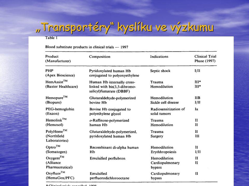 """""""Transportéry kyslíku ve výzkumu"""
