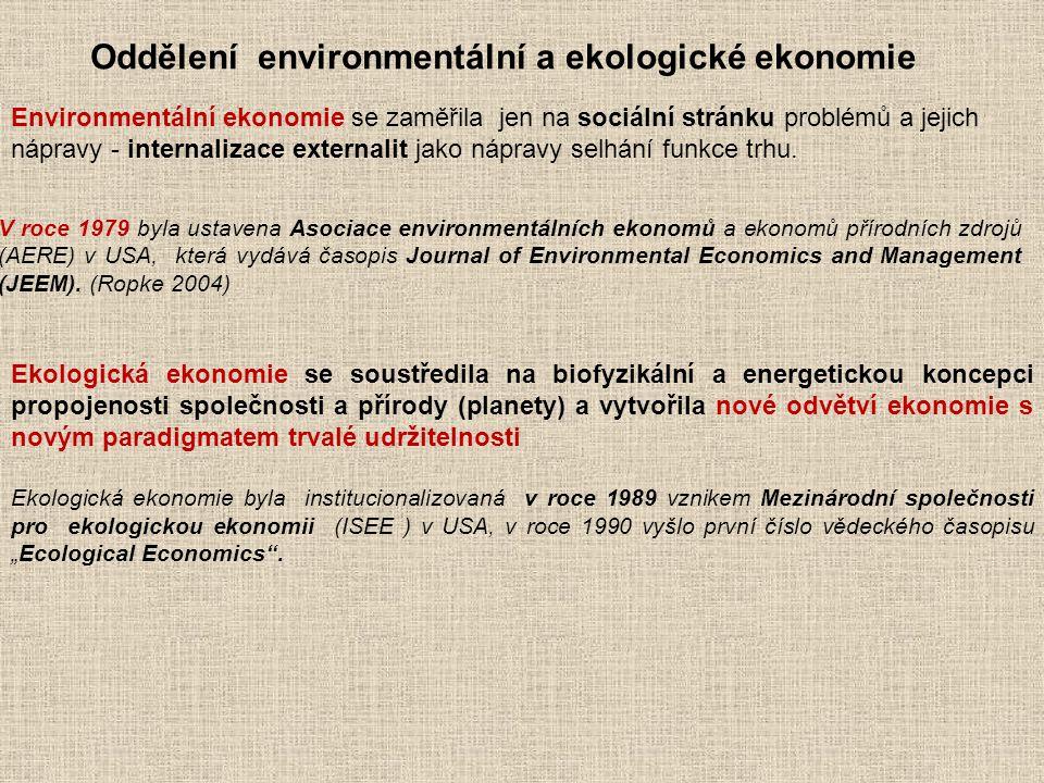 Oddělení environmentální a ekologické ekonomie