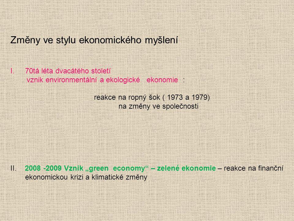 Změny ve stylu ekonomického myšlení