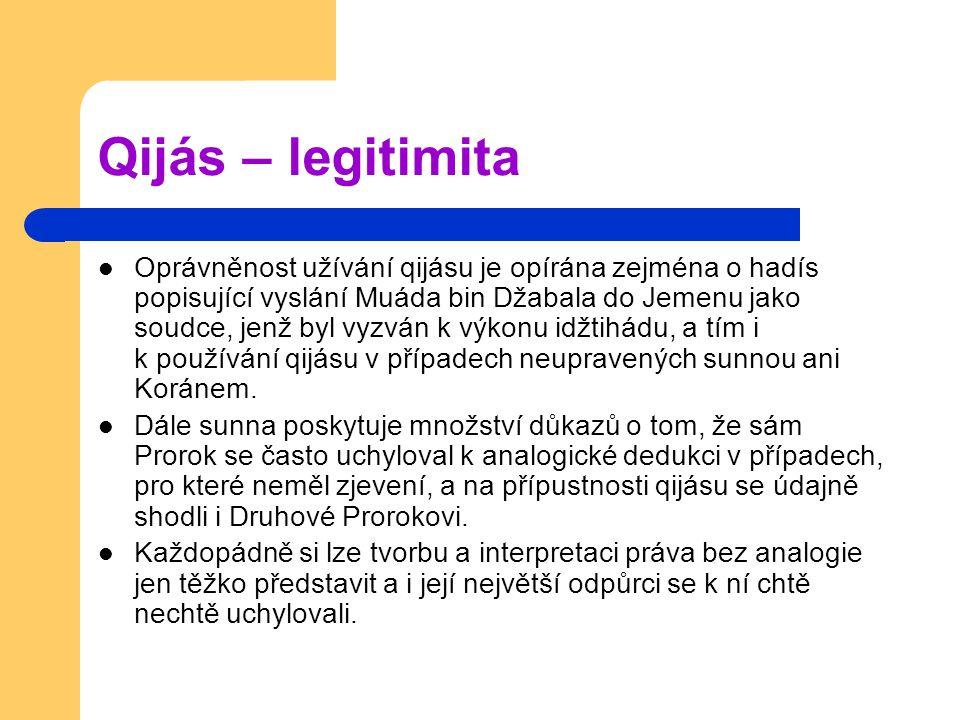 Qijás – legitimita