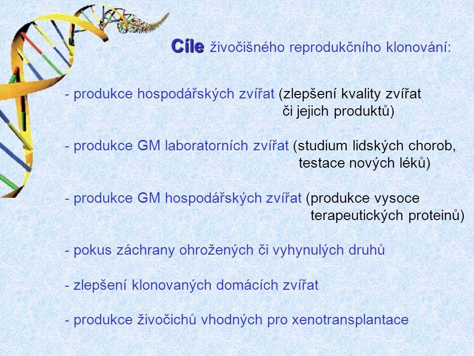 Cíle živočišného reprodukčního klonování: