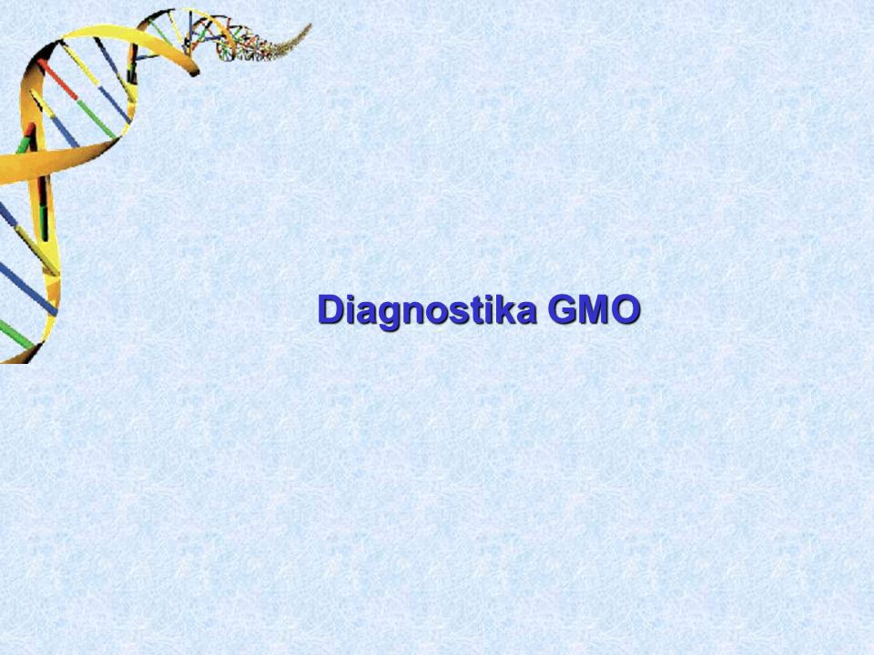 Diagnostika GMO