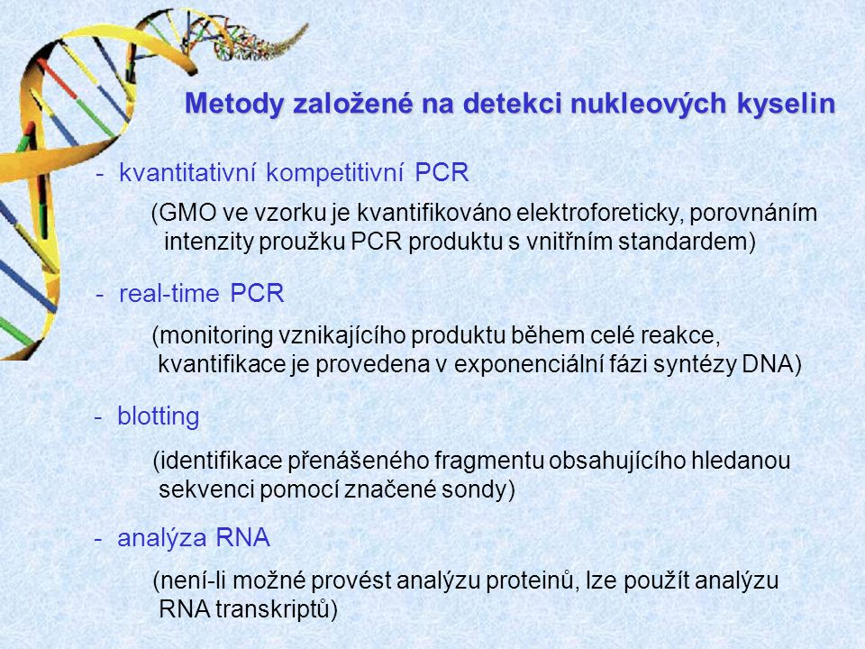 Metody založené na detekci nukleových kyselin