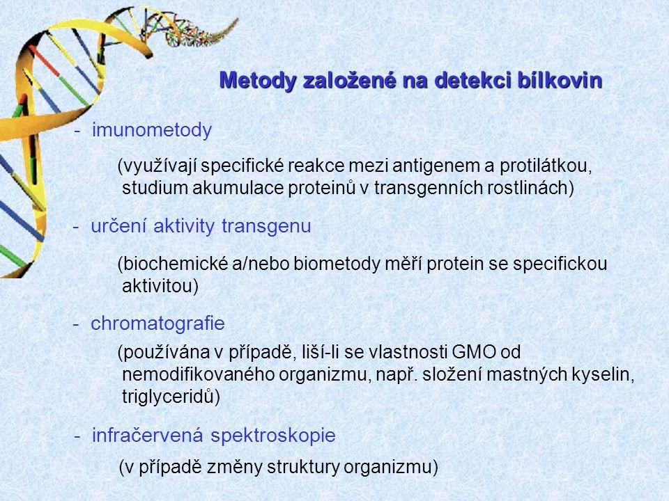 Metody založené na detekci bílkovin