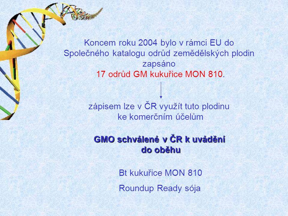 GMO schválené v ČR k uvádění
