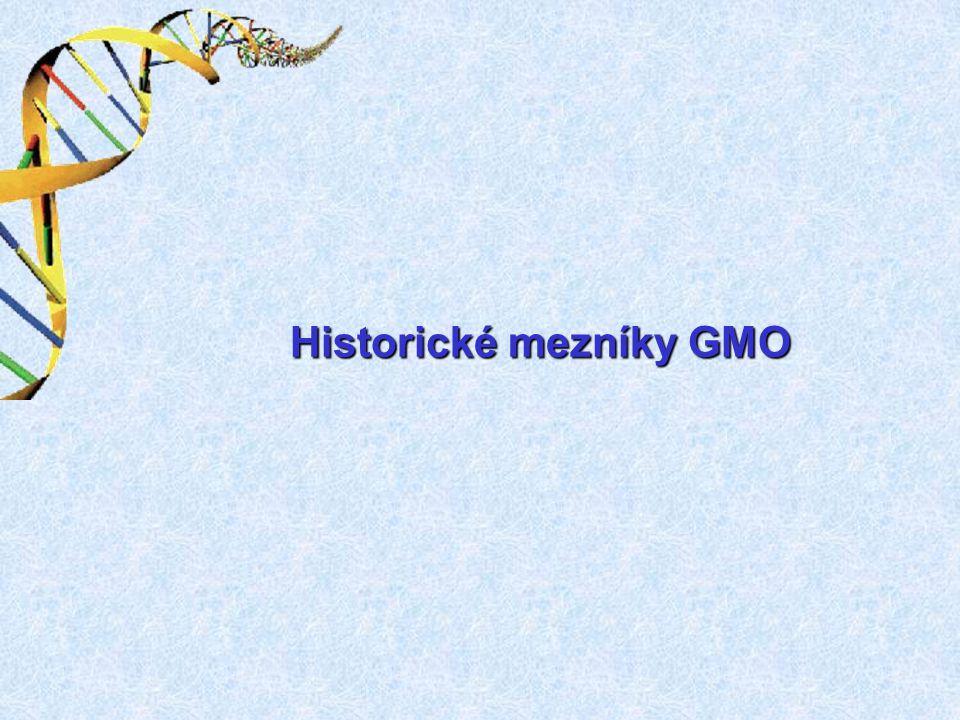 Historické mezníky GMO