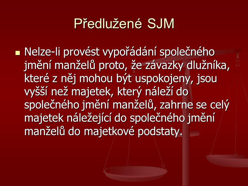Předlužené SJM