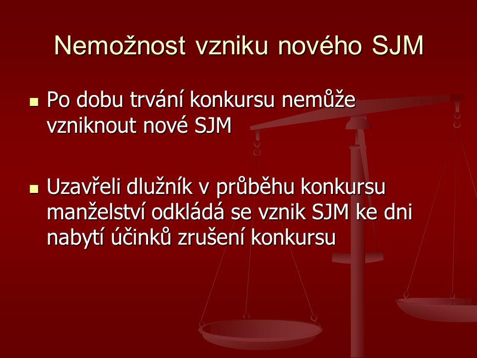 Nemožnost vzniku nového SJM
