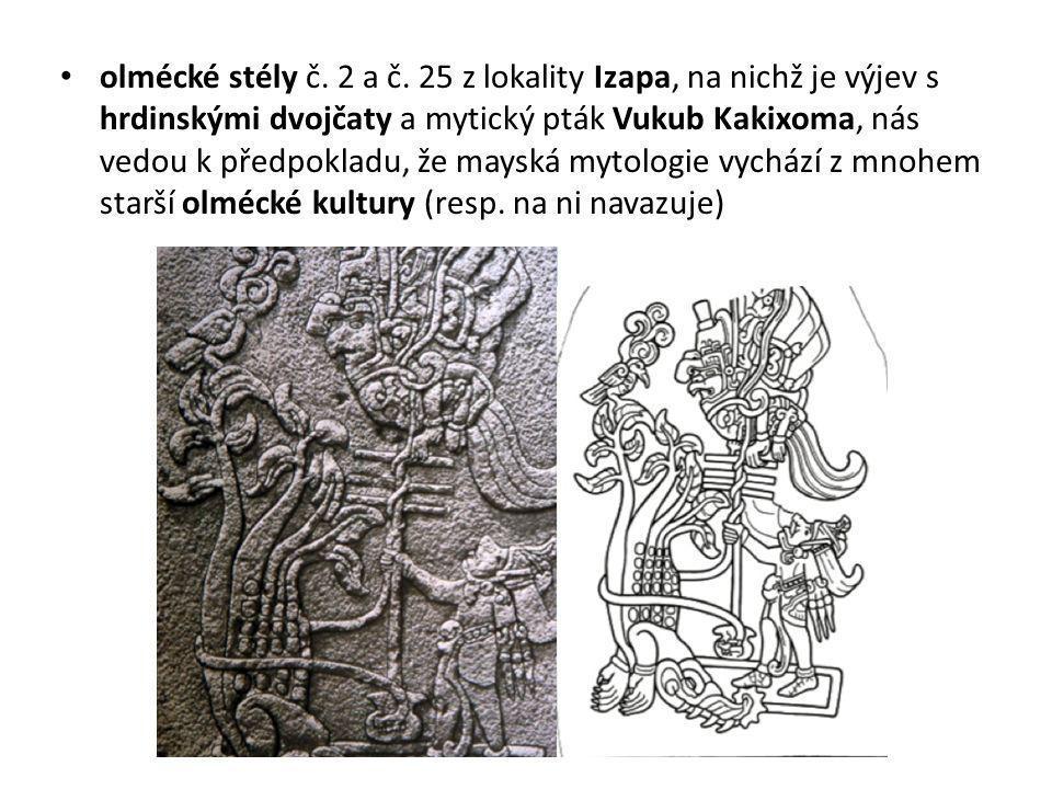 olmécké stély č. 2 a č.
