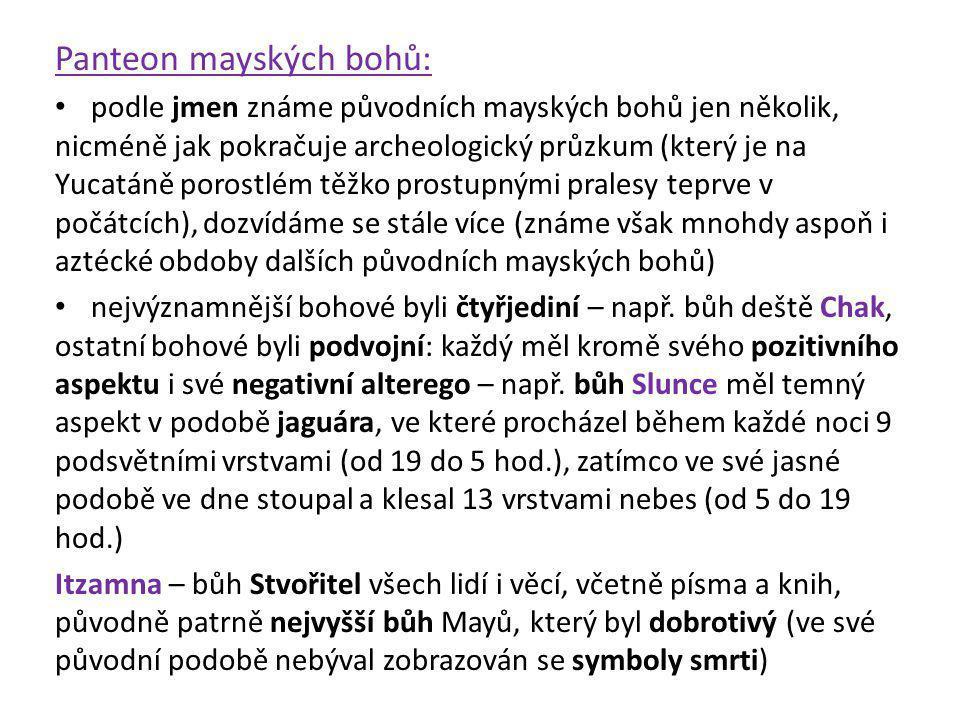 Panteon mayských bohů: