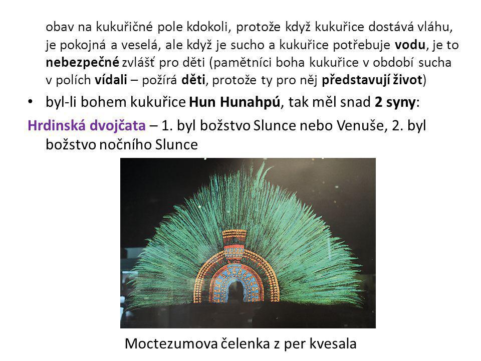 Moctezumova čelenka z per kvesala