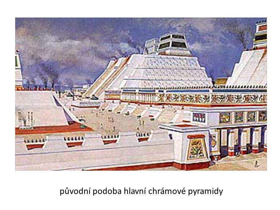 původní podoba hlavní chrámové pyramidy