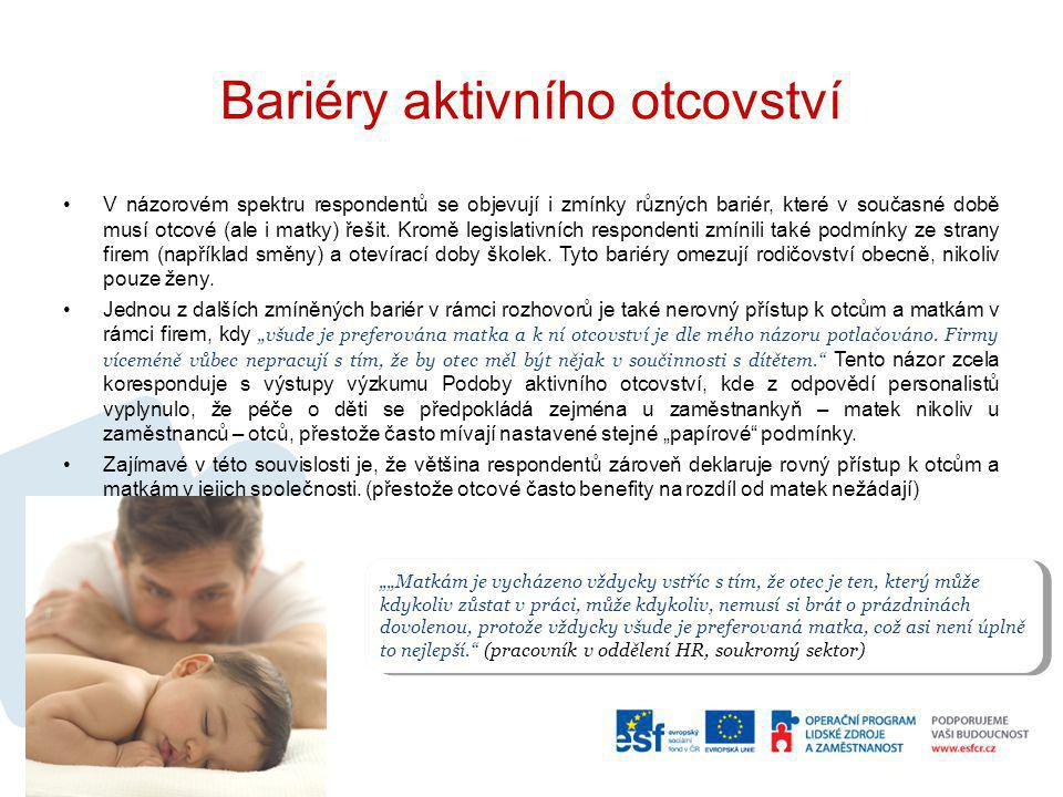 Bariéry aktivního otcovství