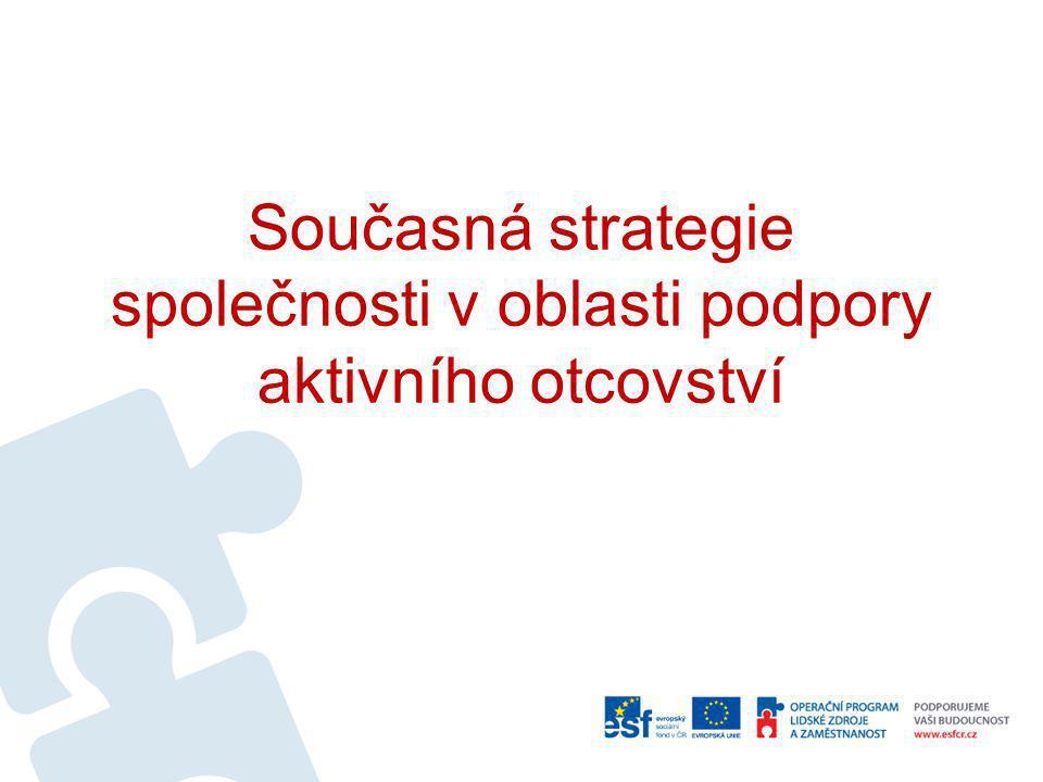 Současná strategie společnosti v oblasti podpory aktivního otcovství