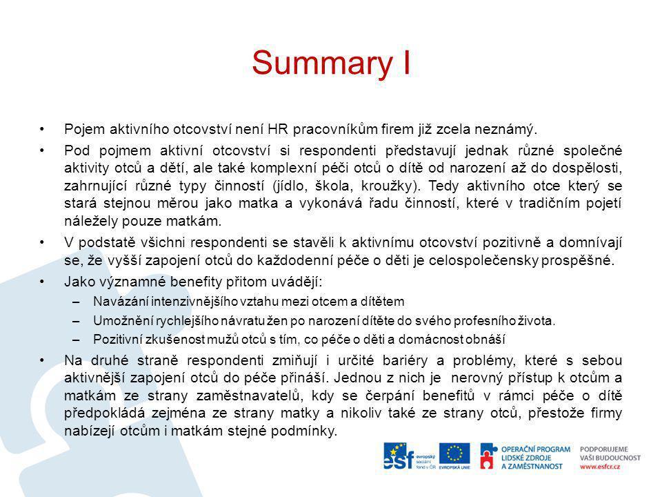 Summary I Pojem aktivního otcovství není HR pracovníkům firem již zcela neznámý.