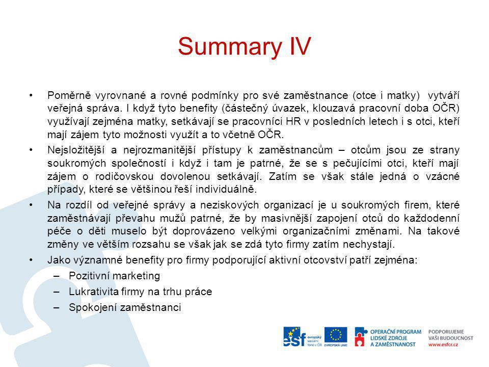 Summary IV