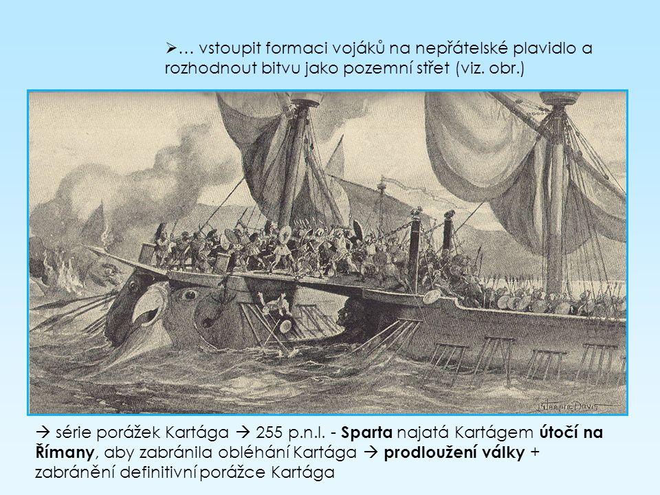 … vstoupit formaci vojáků na nepřátelské plavidlo a rozhodnout bitvu jako pozemní střet (viz. obr.)