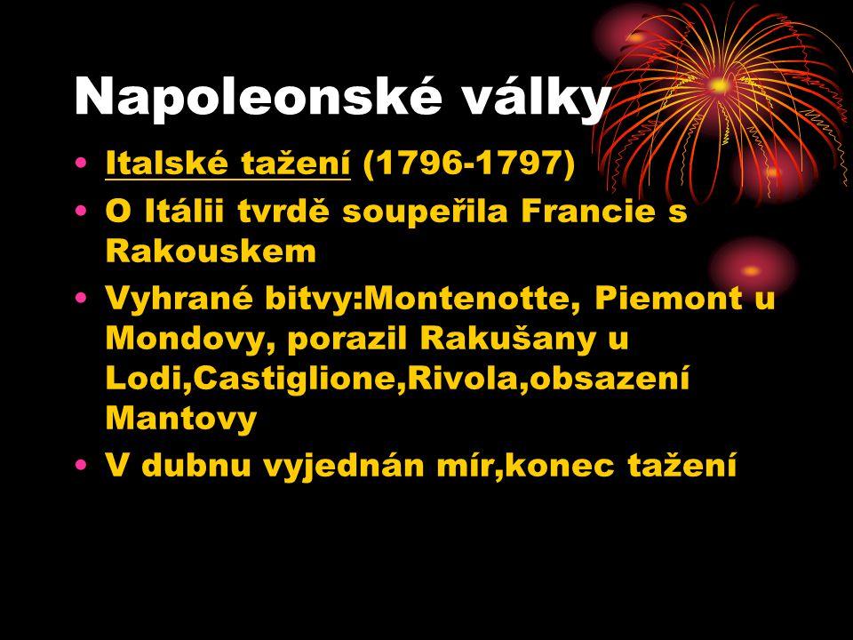 Napoleonské války Italské tažení (1796-1797)
