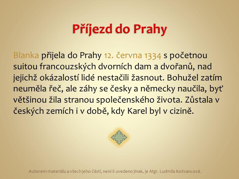 Příjezd do Prahy