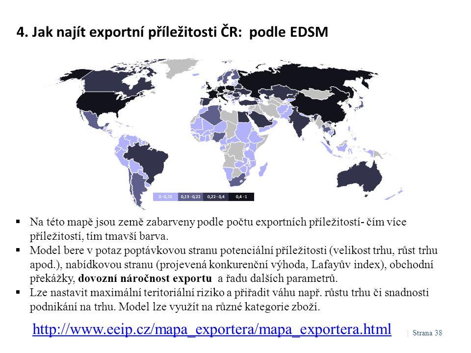 4. Jak najít exportní příležitosti ČR: podle EDSM