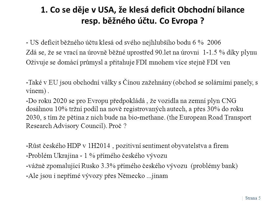 1. Co se děje v USA, že klesá deficit Obchodní bilance resp