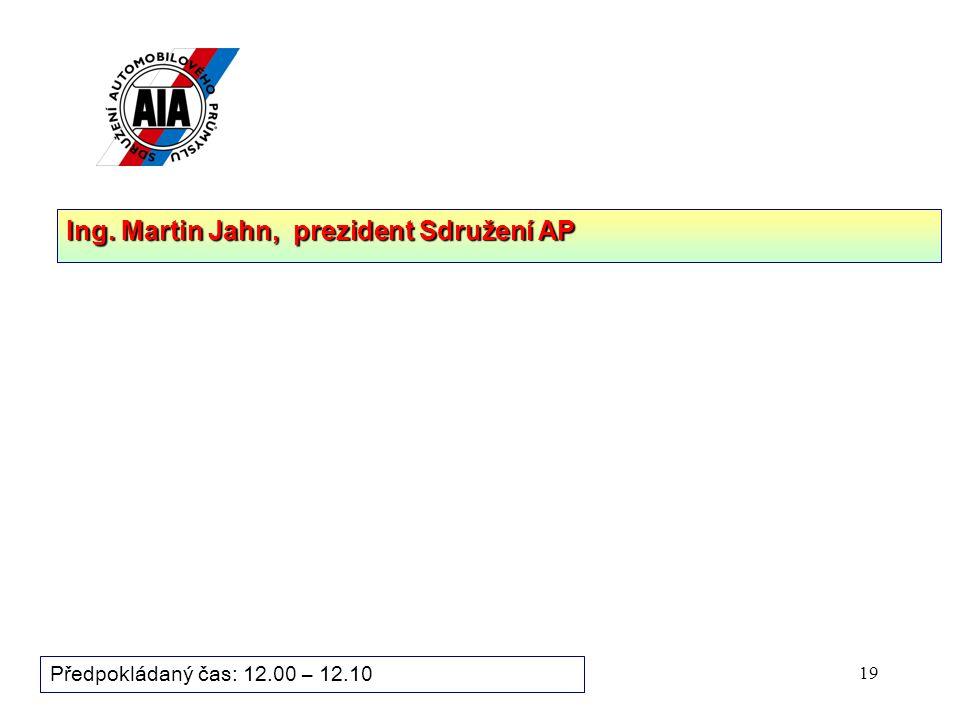 Ing. Martin Jahn, prezident Sdružení AP