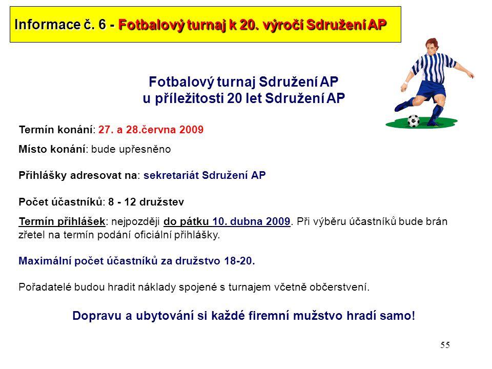 Fotbalový turnaj Sdružení AP u příležitosti 20 let Sdružení AP