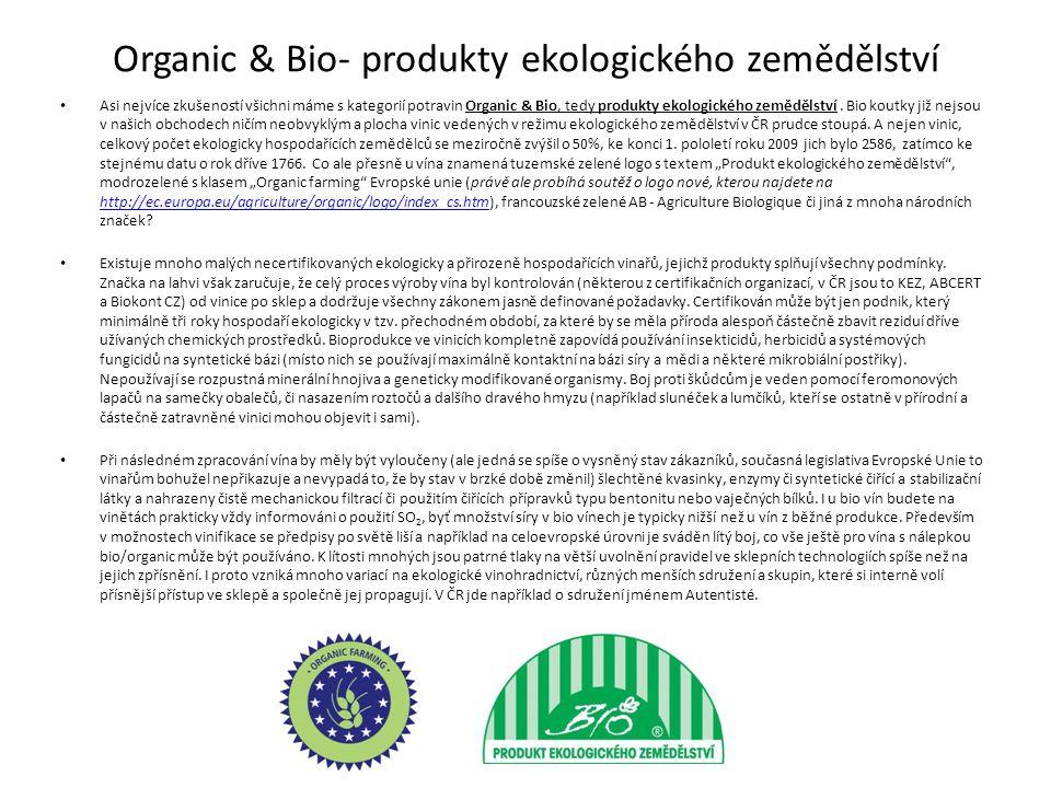 Organic & Bio- produkty ekologického zemědělství