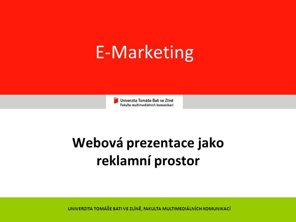 Webová prezentace jako reklamní prostor