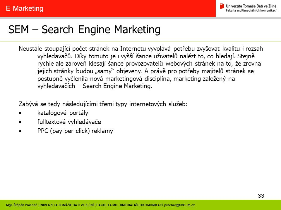 SEM – Search Engine Marketing