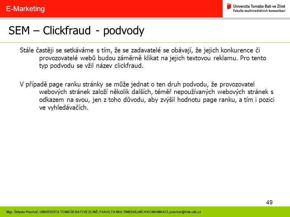 SEM – Clickfraud - podvody