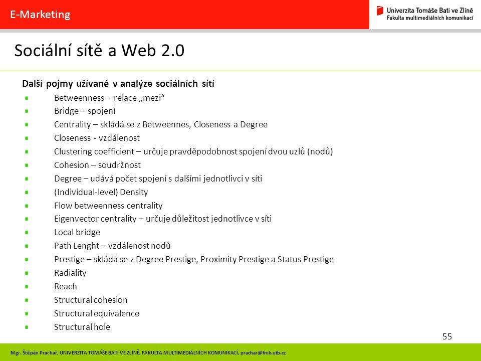 Sociální sítě a Web 2.0 E-Marketing