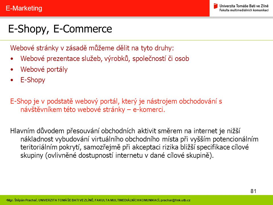 E-Shopy, E-Commerce E-Marketing