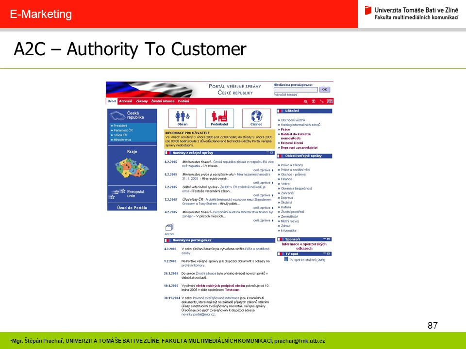 A2C – Authority To Customer