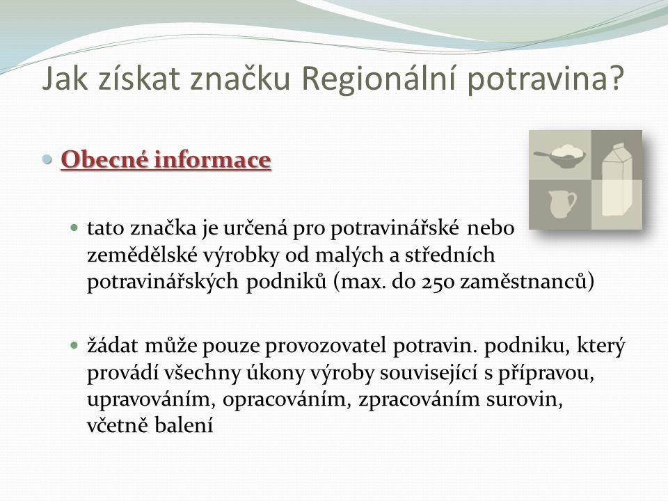 Jak získat značku Regionální potravina