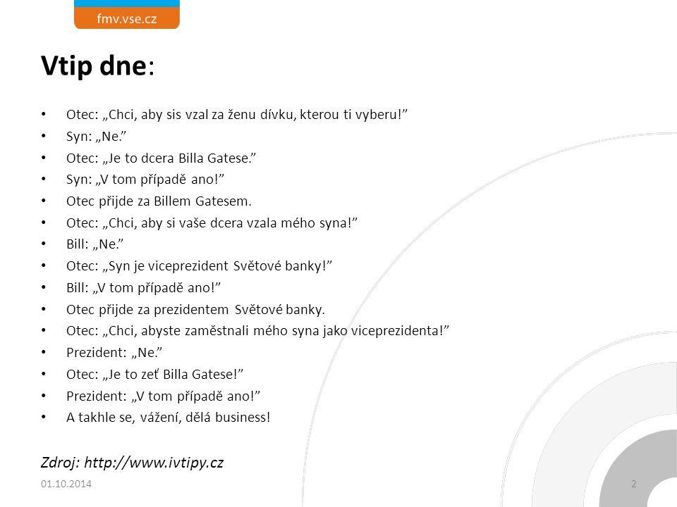 Vtip dne: Zdroj: http://www.ivtipy.cz