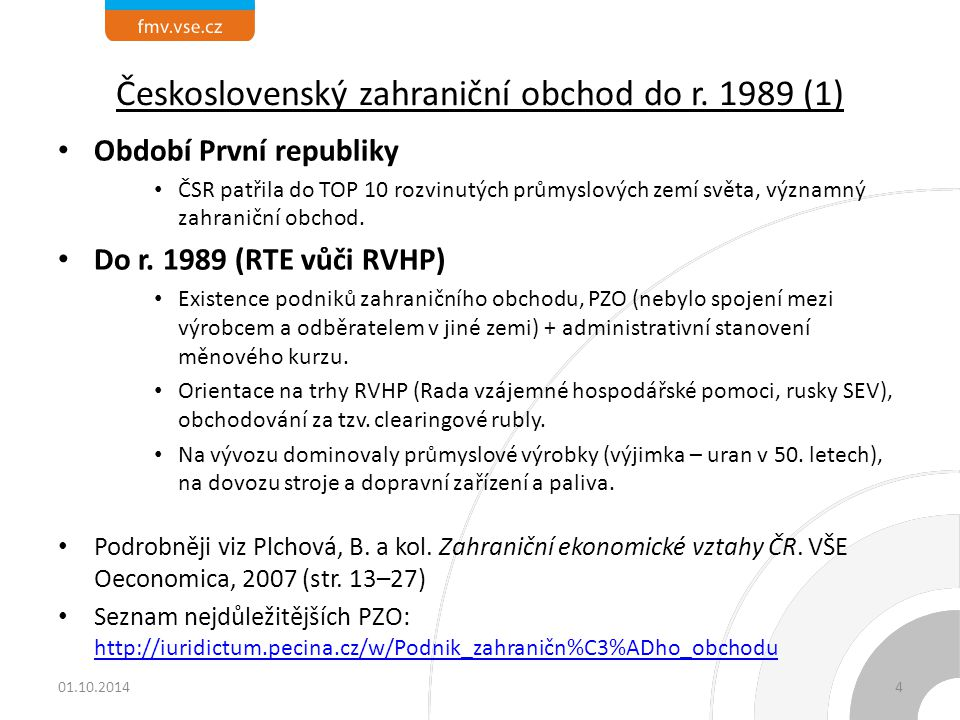 Československý zahraniční obchod do r. 1989 (1)