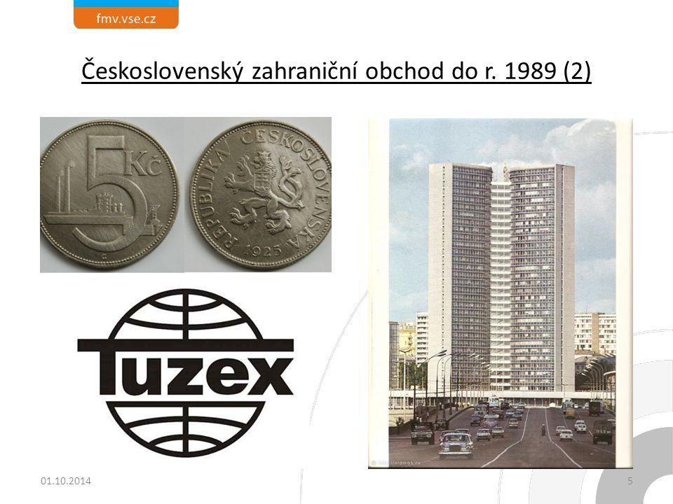 Československý zahraniční obchod do r. 1989 (2)