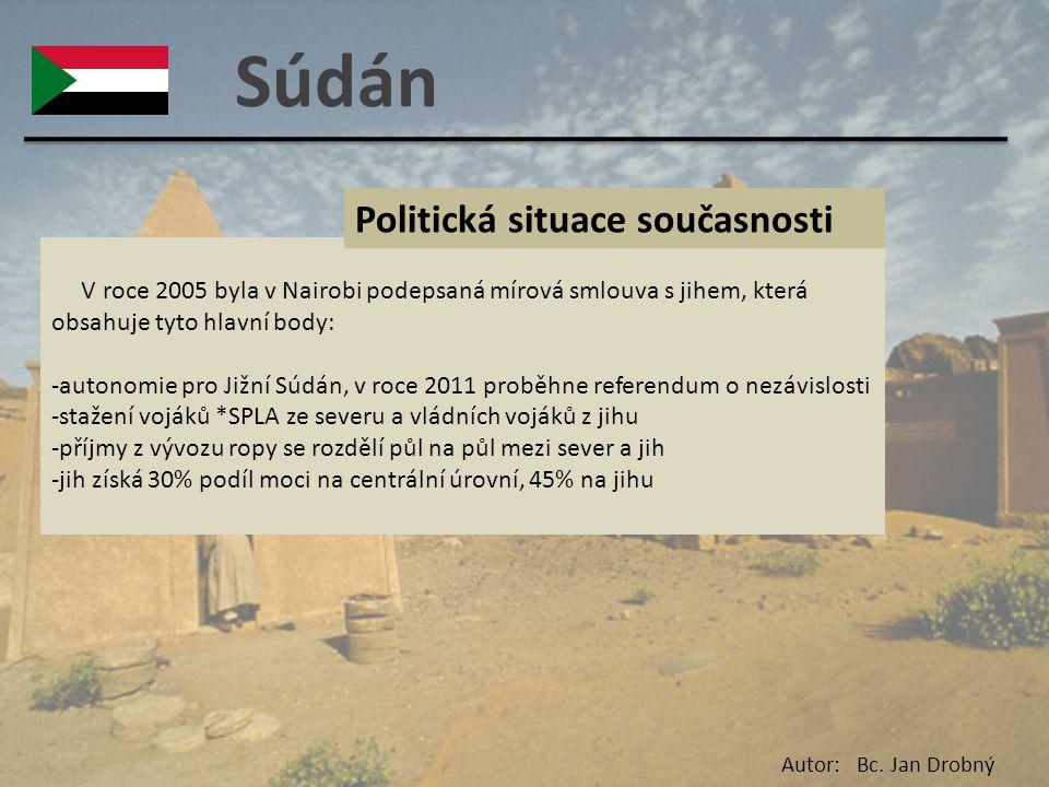 Súdán Politická situace současnosti